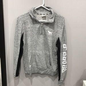 Victoria's Secret quarter zip gray sweatshirt